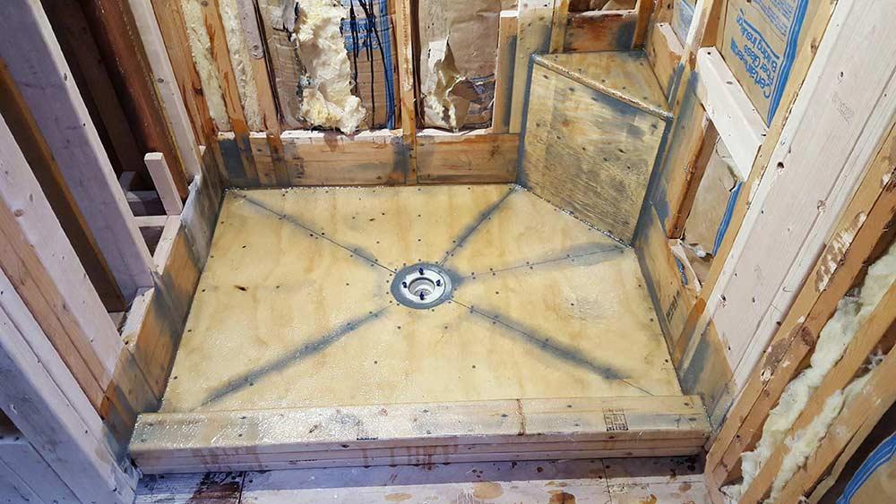 Shower Pan With Corner Bench.Custom Shower Pan Shower Base Installation Fiberglass